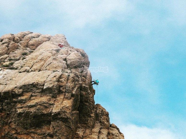 从高处攀登大加那利岛