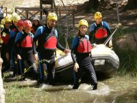 Rafting for team building