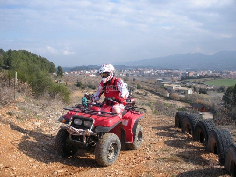 Having fun with a quad biking excursion