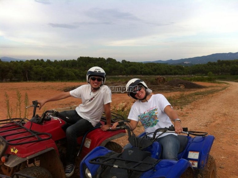 Quad biking excursion as a couple