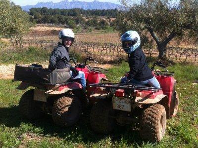 Quad route for couples in Alto de Penedès 1 h