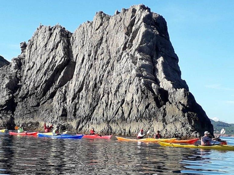 Sesión de kayak en Ibiza