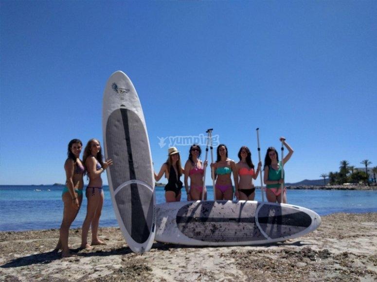 Listas para un día de paddle surf gigante
