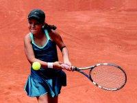 practicando tenis