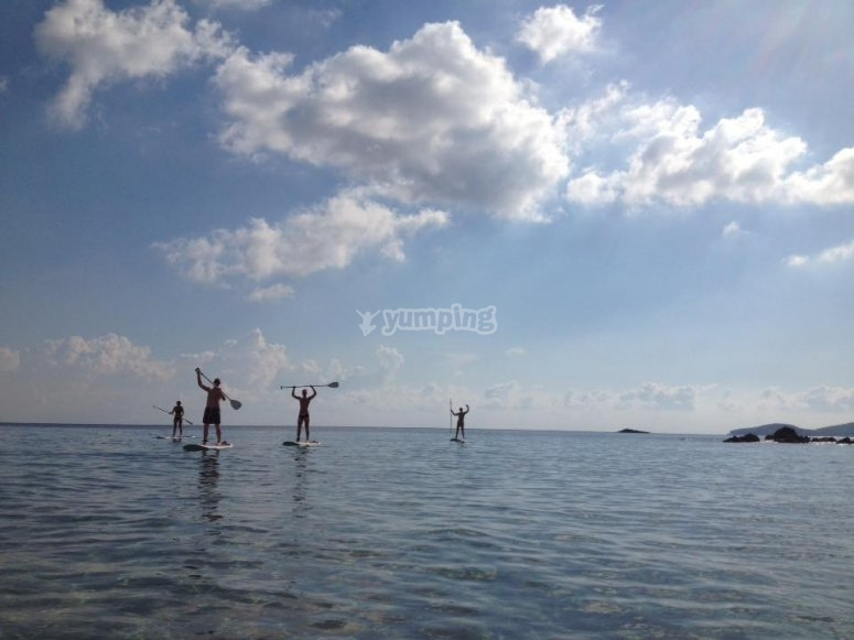 Ruta de paddel surf por Ibiza