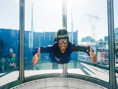 Wind tunnel 2 flights in Porto for adults