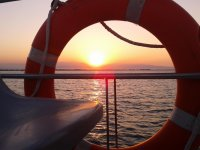 Atardeciendo en el barco