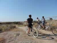 Parados con las bicis