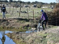 Crossing streams with mountain bikes