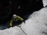 escalada en el hielo
