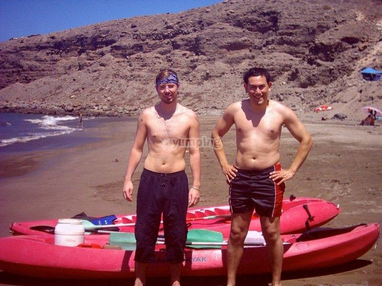 Kayak en Playa El Pajar