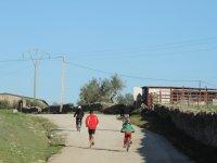 Comenzando el paseo con las bicis