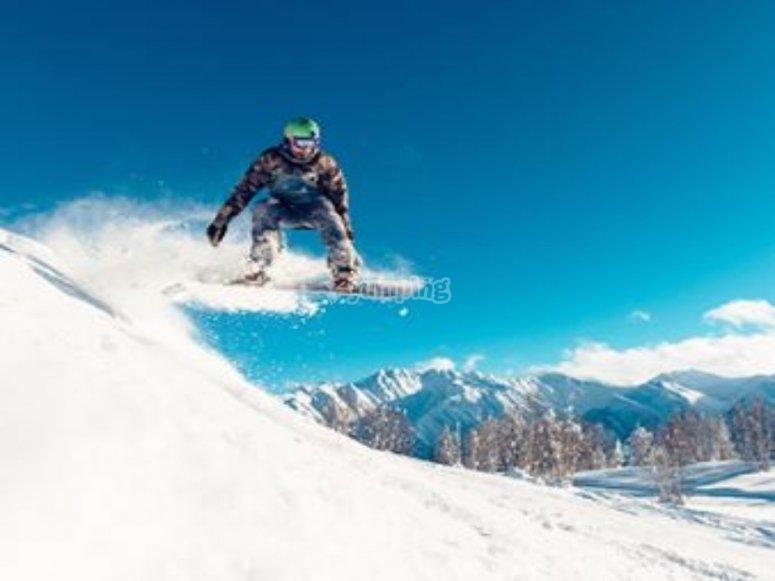 Sierra nevada en snowboard