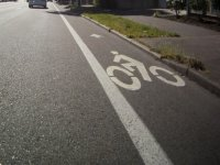 The bicycle lane
