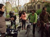 山地自行车路线骑自行车的朋友组