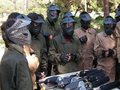 Paintball super package in Chiclana 700 rounds