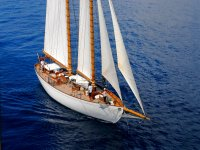 On the high seas by sailboat
