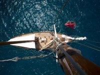从帆上切碎的飞机