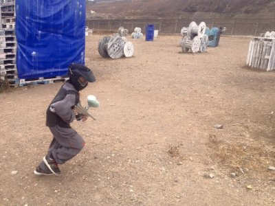 Paintball for children with 50 balls in Las Palmas