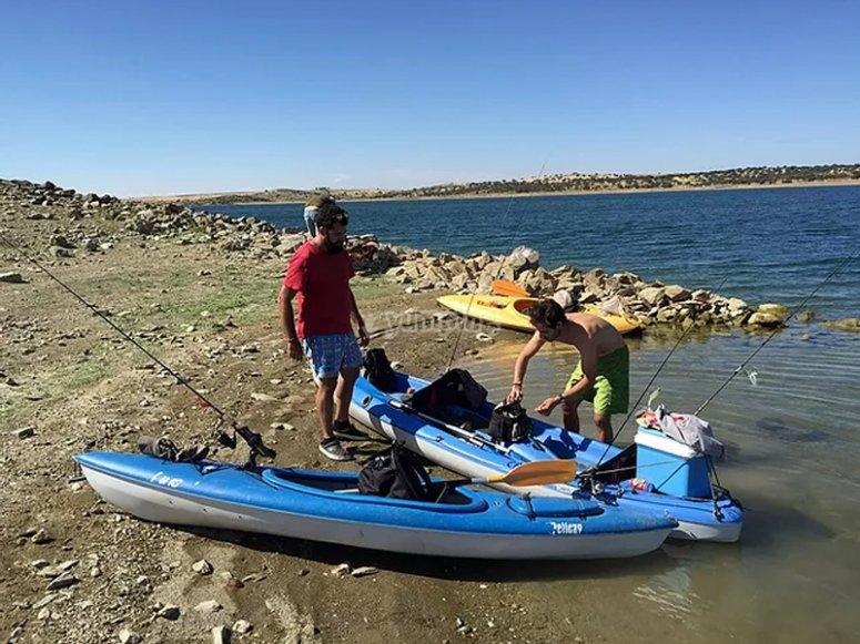 玫瑰皮划艇钓鱼之旅