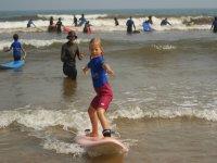 Clase de surf niños