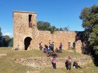 集团远足徒步旅行在巴塞罗那