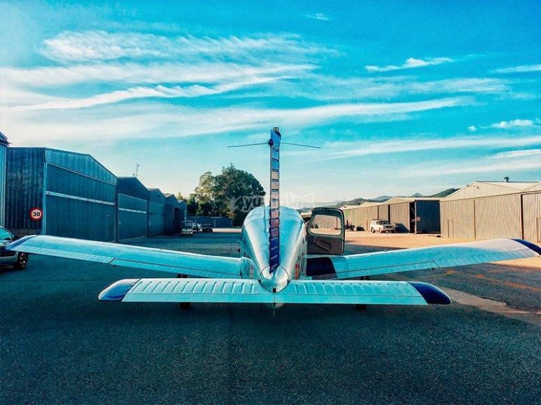 Parte posteriore dell'aereo Piper
