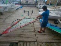 Preparando el equipo de windsurf