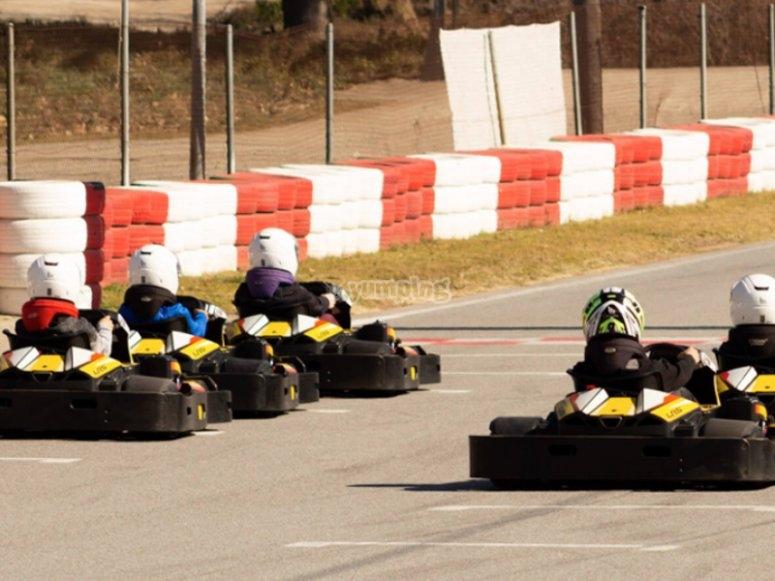 Listos para comenzar el torneo de karting