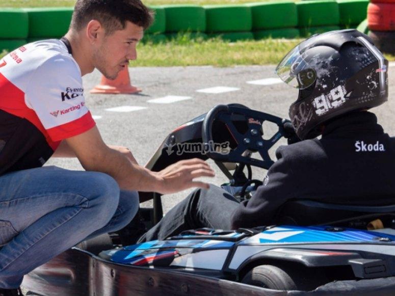 Preparándonos para la carrera de karting