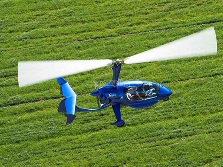 卡斯特利翁的直升机飞行