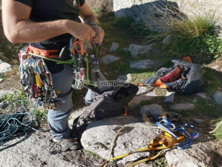 Día de escalada en La Pedriza