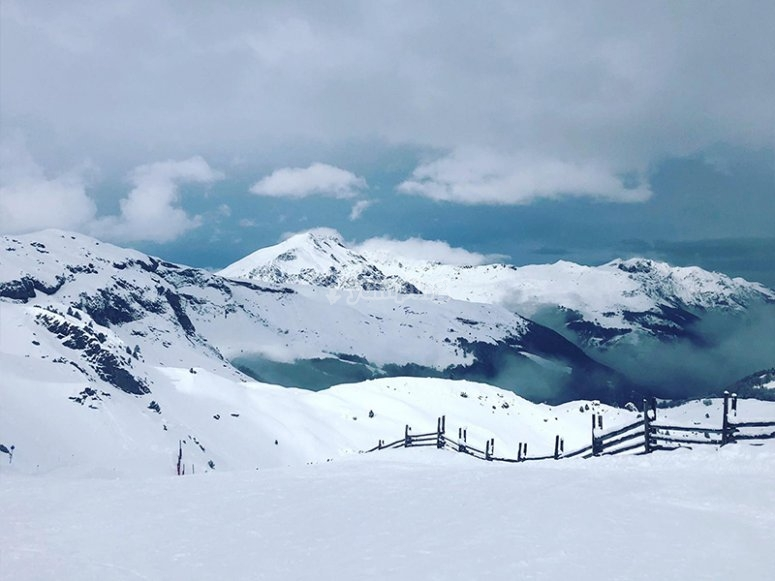 阿拉贡比利牛斯山脉的景色