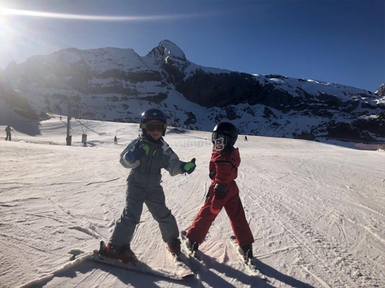 初学者滑雪课