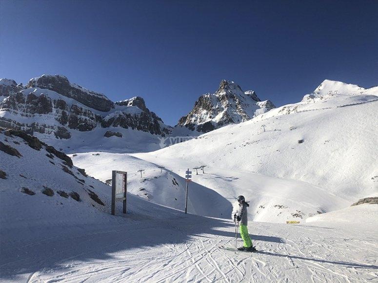 在坎丹丘玩滑雪