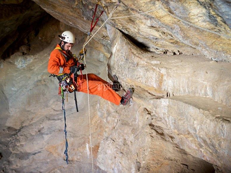 Testing caving