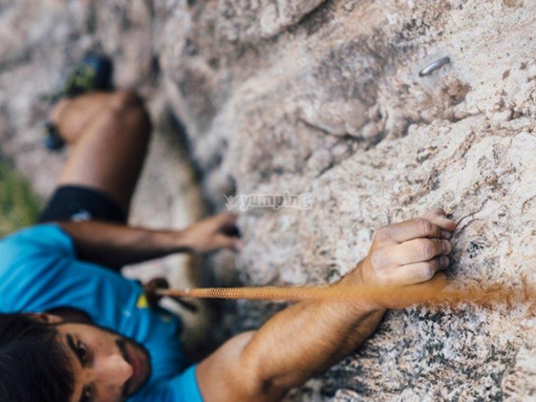 Disfrutando de la escalada