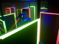 Maze with lights for the laser tag