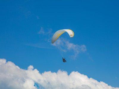 Paragliding flight with video in Villalba de Losa