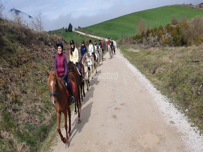 Passeggiate a cavallo vicino a Pamplona