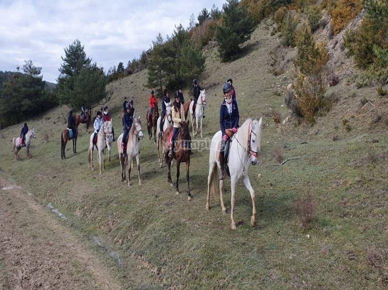 Percorsi a cavallo attraverso Añezcar