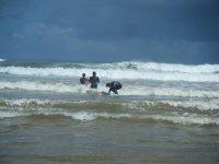 probando las olas