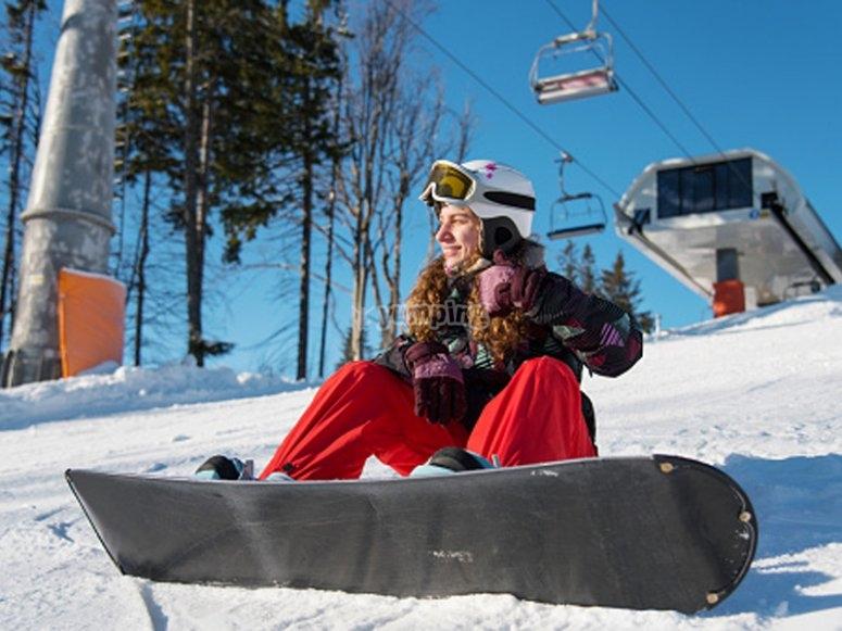 准备滑雪板课程