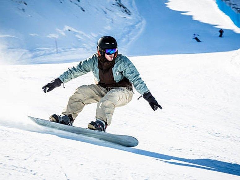 享受滑雪板的课程