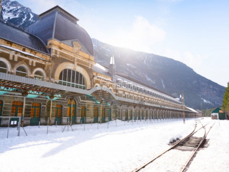 Railway station in Canfranc