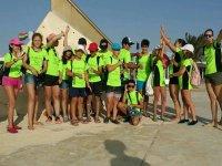 Grupo del campamento de idiomas