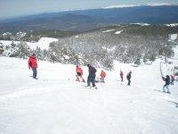 en la pista de esqui