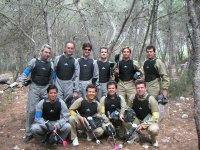 Play paintball at a farewell