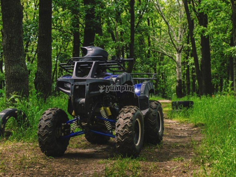 Our quad ready for the route