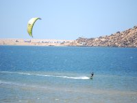 Kitesurfing in the reservoir